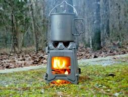 Titanium Ultralight Outdoor Camping Folding Wood Stove Backp
