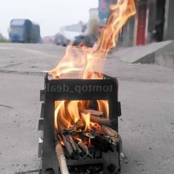 Ultralight Outdoor Camping Wood Stove Titanium Survival Cook