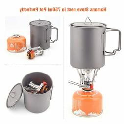 Ultralight Portable Gas Stove with Piezo Ignition Outdoor Ba