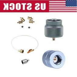 US Outdoor Camping Gas Flat Refill Adapter Cylinder Tank Cou