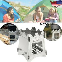 USA Lixada Compact Folding Wood Stove for Outdoor Camping Co