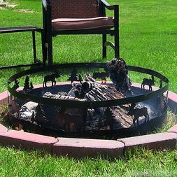 Sunnydaze Wild Moose Campfire Ring, 36 Inch Diameter