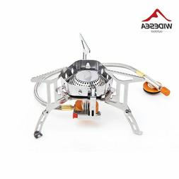 Wind proof outdoor gas burner camping stove lighter tourist