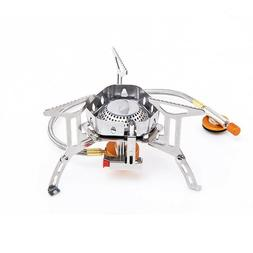 Windproof Outdoor Gas Burner Camping Stove Equipment Cylinde
