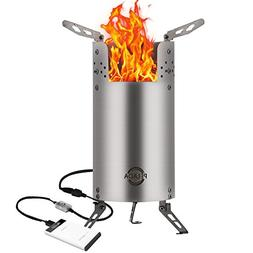 USB Wood Burning Stove,KORODA Portable Outdoor Backpacking C